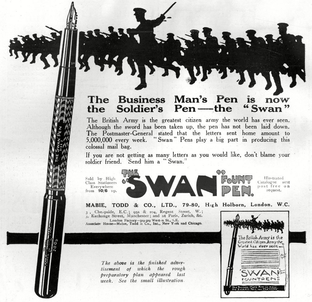 Advertisement For Swan Fountain Pens
