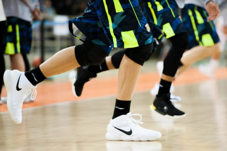 Dec 9, 2017 - Beijing, China: Former NBA Player Yi Jianlian warms up in NIKE shoes before a CBA game between Beijing Fly Dragons and Guangdong, on December 9, 2017, in Beijing, China.