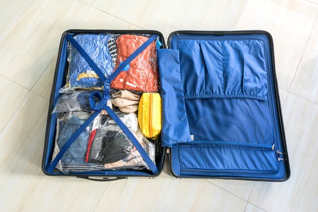 pack the luggage bag for Save Space