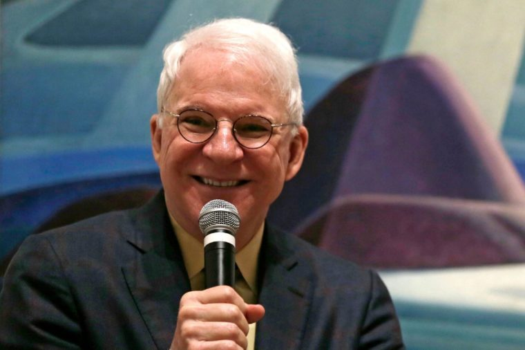 "Steve Martin Actor and comedian Steve Martin, who is guest curator of an exhibition at the Museum of Fine Arts devoted to Canadian modernist Lawren Harris, during a gathering at the museum in Boston, . ""The Idea of North: The Paintings of Lawren Harris"" runs through June 12"
