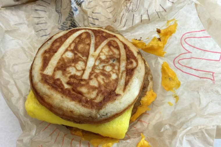 This, photo, shows a McDonald's McGriddle sandwich in New York. McDonald's plans to push its operational limits by testing the addition of the McGriddle to its all-day breakfast menu. The move comes after the company reported its biggest U.S. sales jump in nearly four years, following the launch of all-day breakfast in October