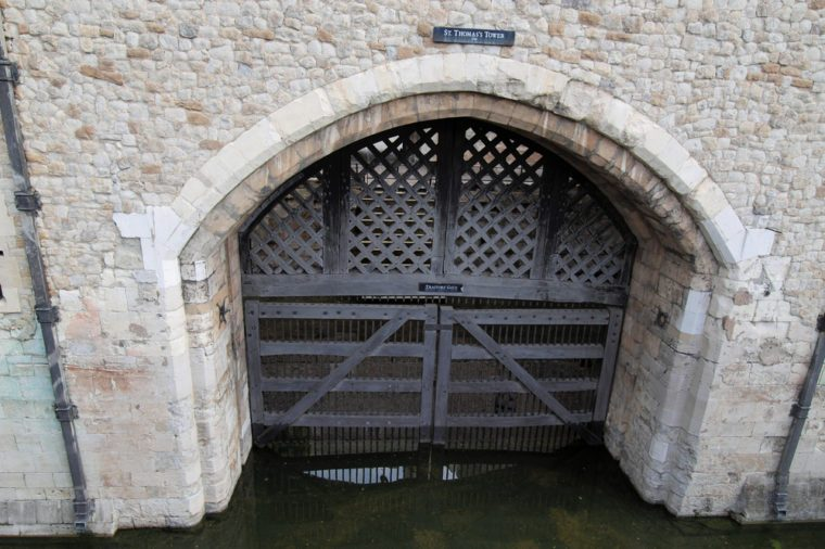 Traitors Gate, St Thomas Tower, Tower of London, England, UK