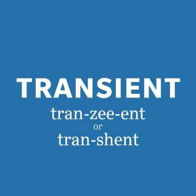 transient pronunciation