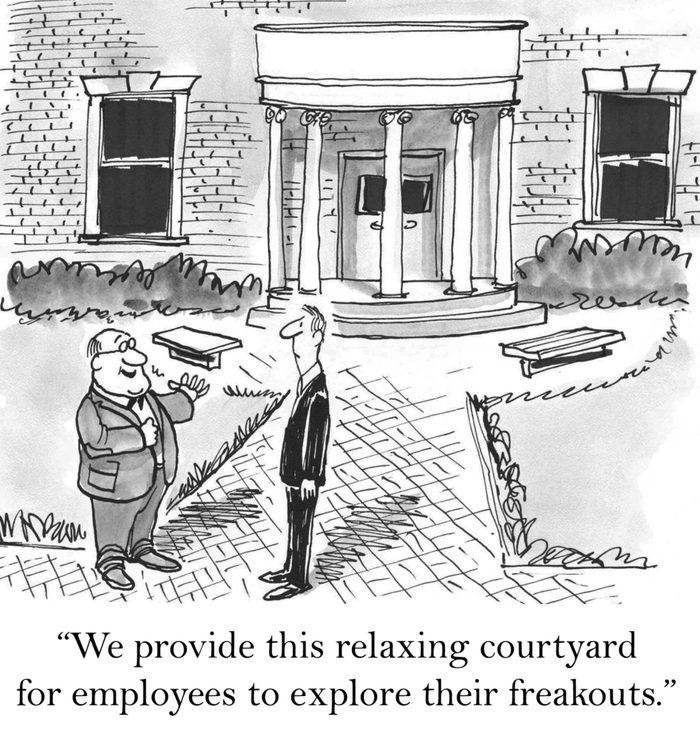 """""""We provide this relaxing courtyard for employees to explore their freakouts."""""""