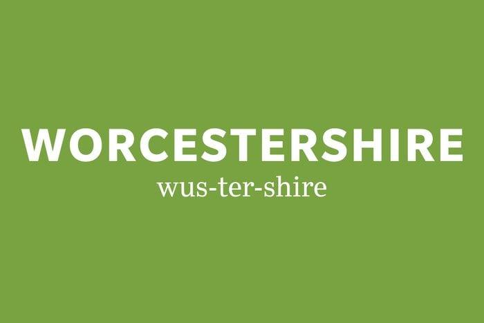 Worcestershire pronunciation