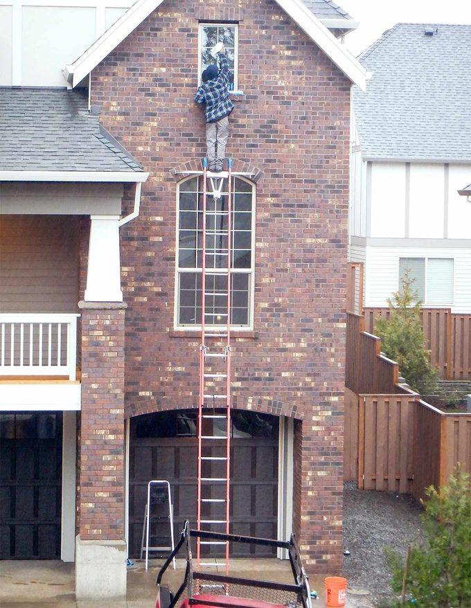 wrong ladder use