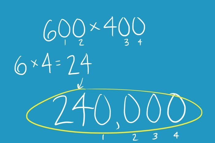 Multiplying numbers that end in zero
