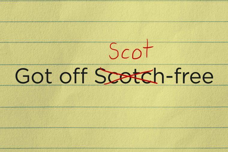 got off Scot-free