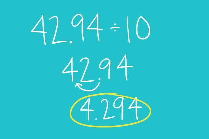 Dividing by 10, 100, or 1,000