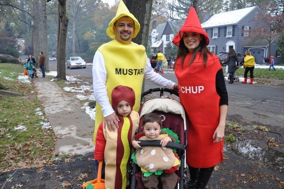 Hot Dog & Hamburger Family Costume