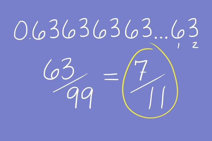 turning a repeating decimal into a fraction