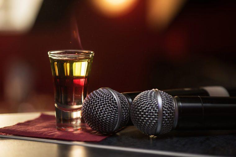burning drink shot