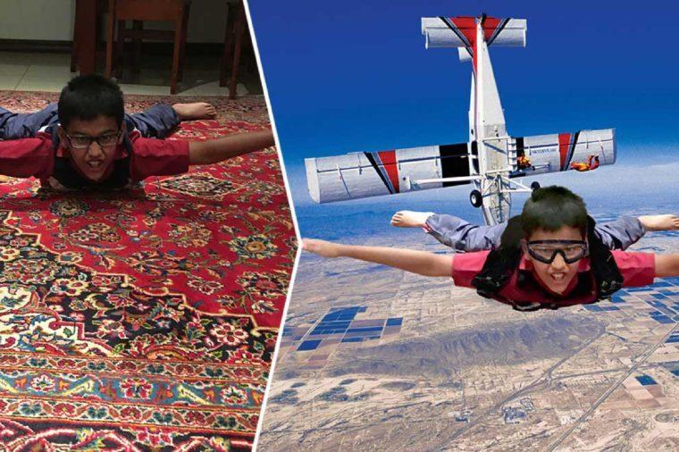 skydiver boy