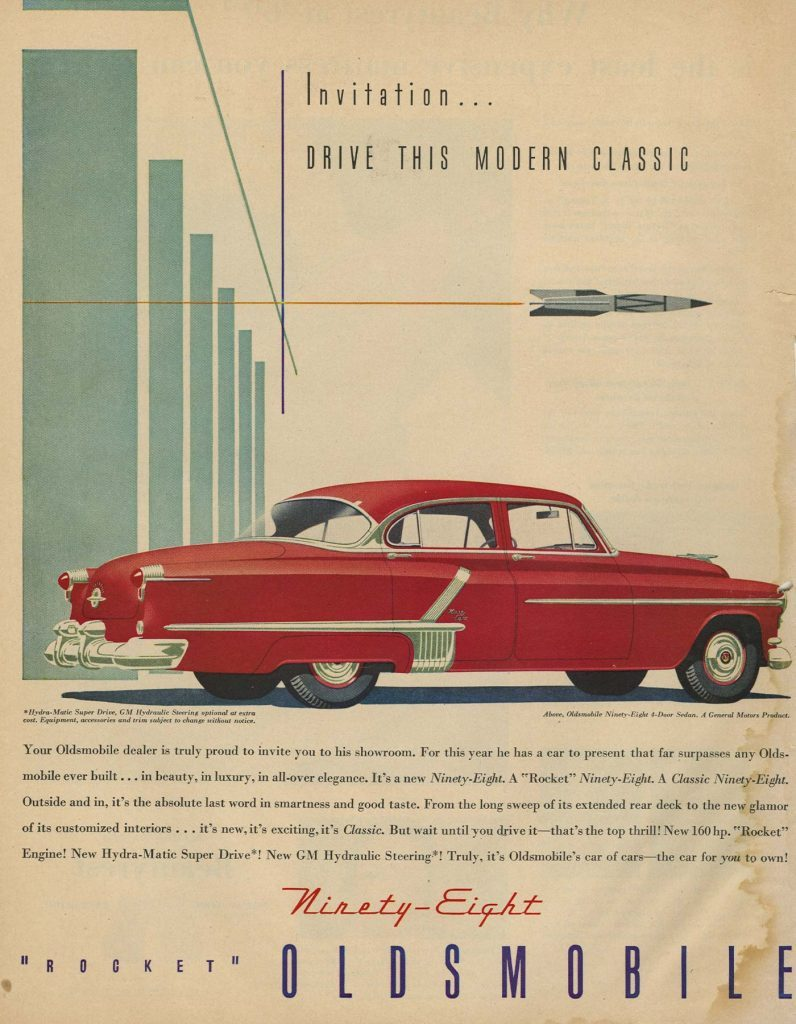 '52 oldsmobile ad Reminisce. This modern classic ...