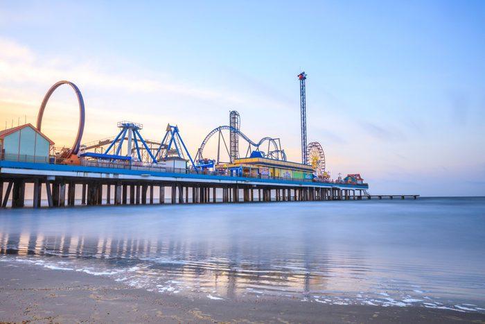 Sunrise Galveston Pleasure Pier