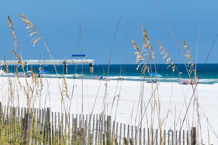 A view of the beach at Orange Beach, Alabama.