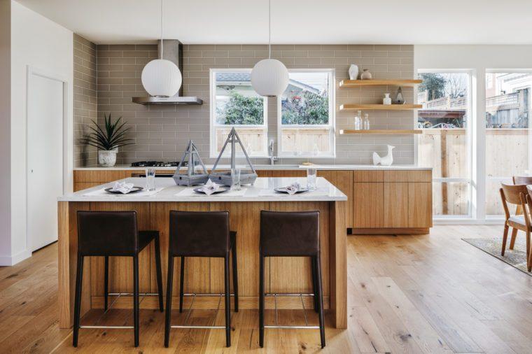Modern kitchen with an open design