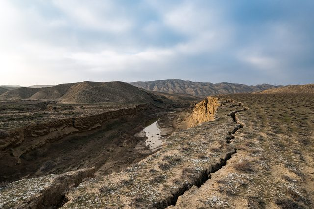 Faults of the earth crust, consequence of the earthquake