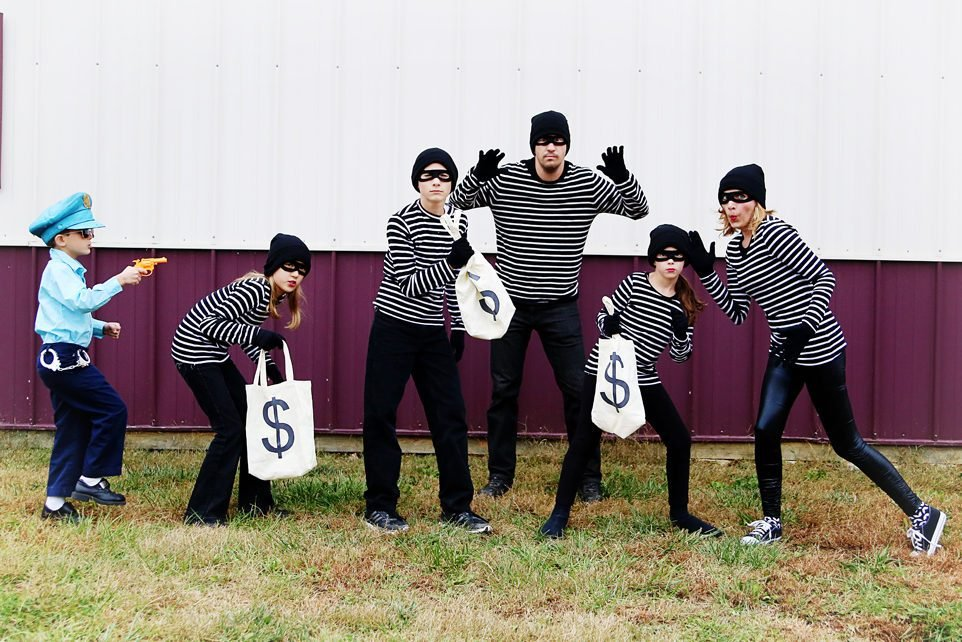 Cops & Robbers Family Costume