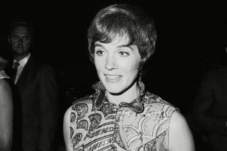 Julie Andrews British actress Julie Andrews pictured at celebrity premier of ?Darling Lili? in Hollywood, Los Angeles, . She co-stars with Rock Hudson in the movie