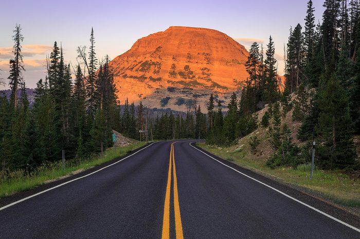 Mirror Lake Highway and Bald Mountain in the Uinta Mountains, Utah, USA.