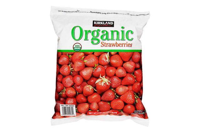Kirkland Signature Organic Strawberries, 4 lbs