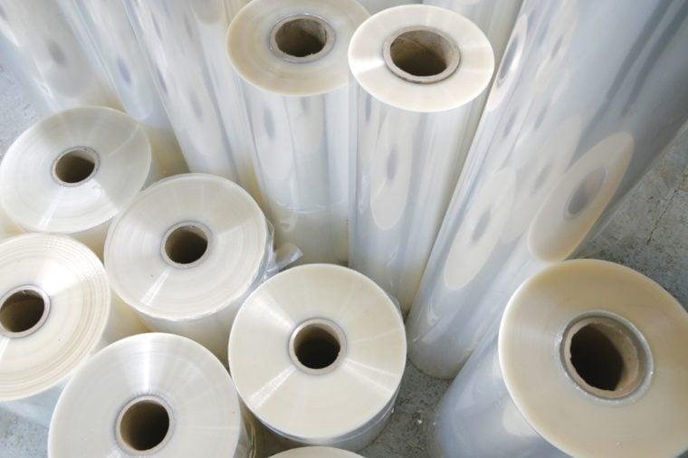 Rolls of the polypropylene workpiece