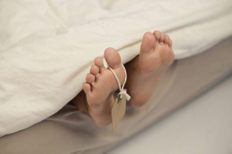 dead body foot
