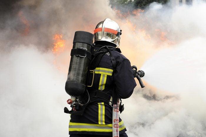 Fireman on the fire