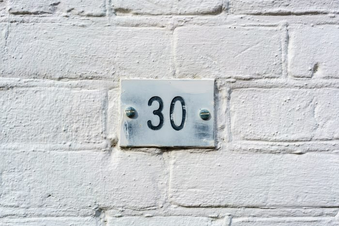 House number thirty (30)