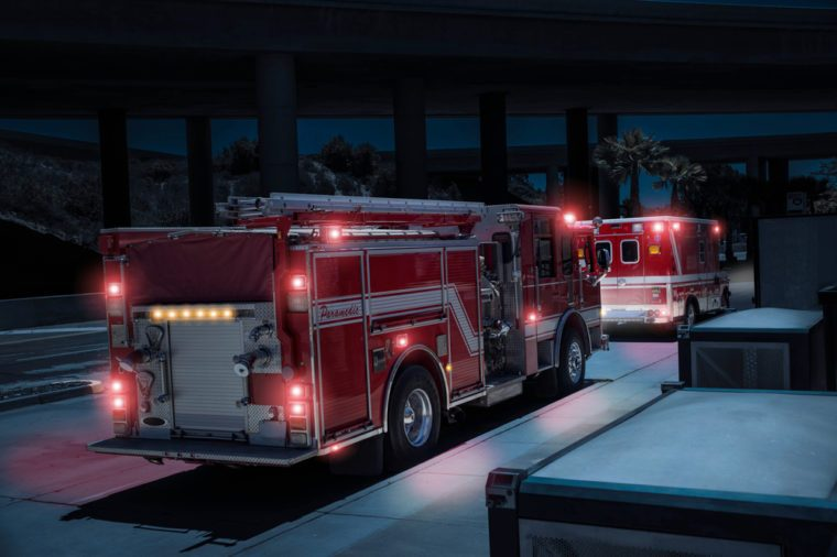 Fire Truck/Paramedics and Ambulance with Lights