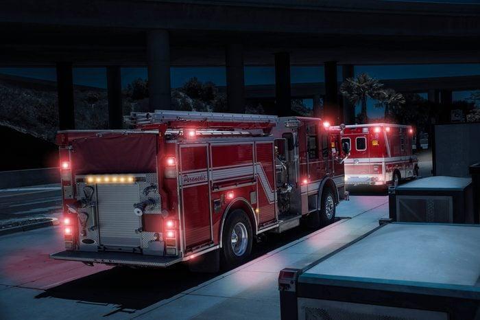 Fire Truck/Paramedics and Ambulance with Lights