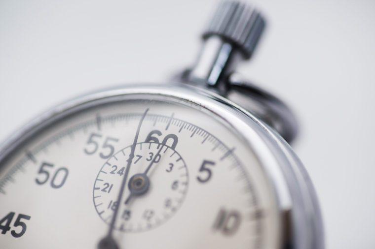 Part of a mechanical stopwatch