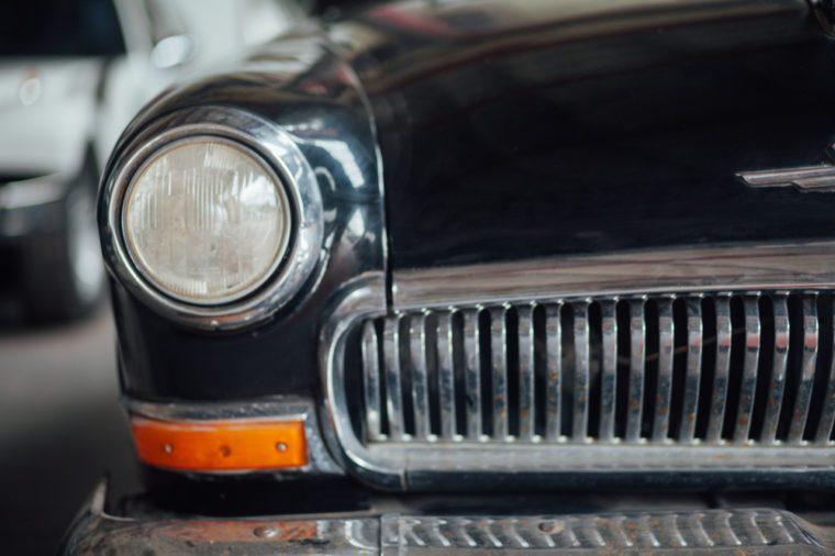 retro car details