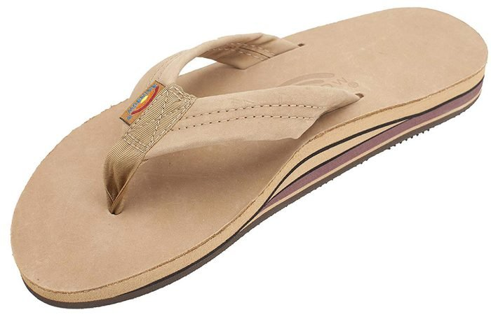 Rainbow Mens Double Layer Leather Sandals