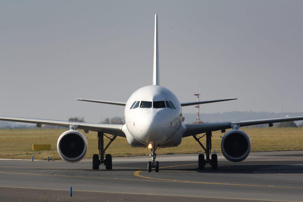 Eye to eye with taxiing plane