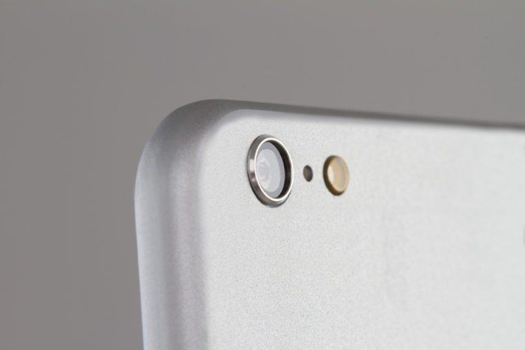 Close up of a Mobile Phone Camera
