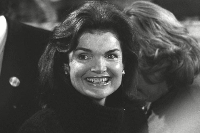 JACQUELINE ONASSIS BX9 Jacqueline Kennedy Onassis attends ceremonies at Boston's Faneuil Hall for a challenge by Sen. Edward Kennedy with President Jimmy Carter