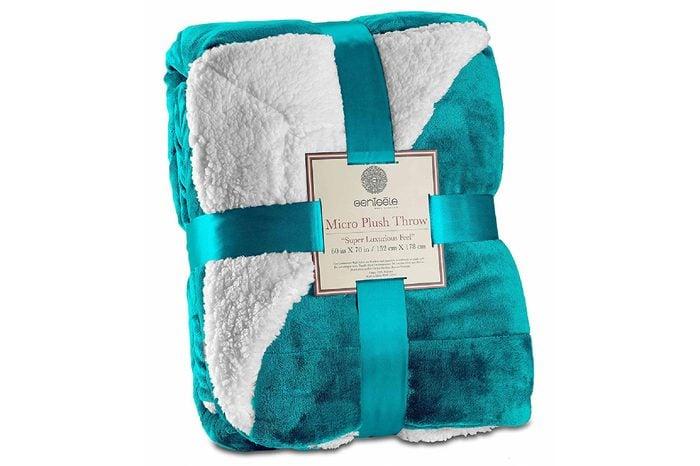 Genteele Sherpa Reversible Throw Blanket