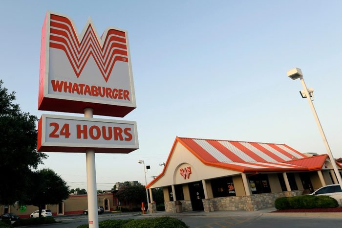 This photo shows a Whataburger restaurant in San Antonio, Texas. The iconic Texas restaurant chain will not allow the open carrying of guns on its properties, taking a stand against a new law legalizing the practice