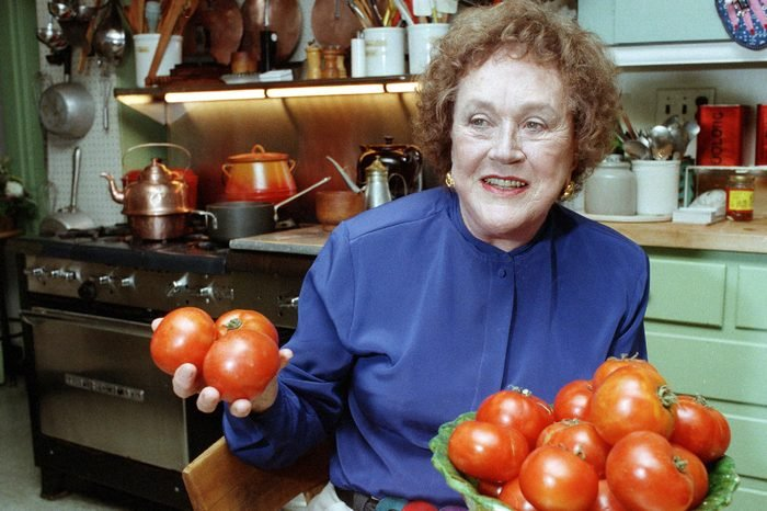 Julia Child Chef and author Julia Child holds tomatoes in the kitchen at her home in Cambridge, Mass. More than a decade after her death, the foundation she created finally is launching a culinary award named in her honor. The Julia Child Award, which will be named annually, will be presented to someone who has improved how Americans think about food and cooking. The first winner will be announced in August 2015 and the award will be presented in October