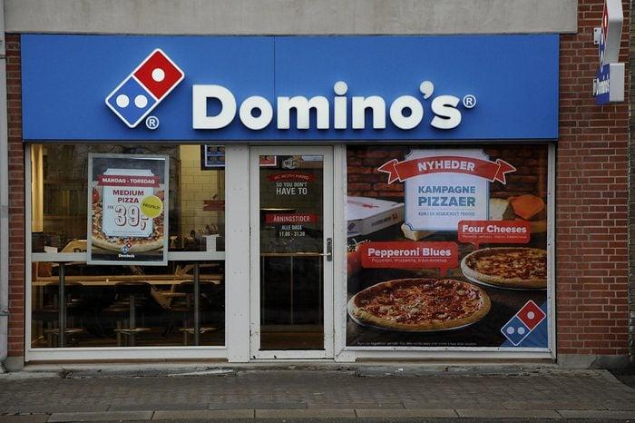 Domino's pizza fast restaurant, Copenhagen