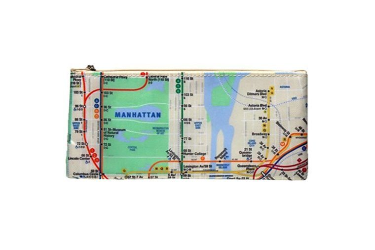 All-Over Map Pencil Case