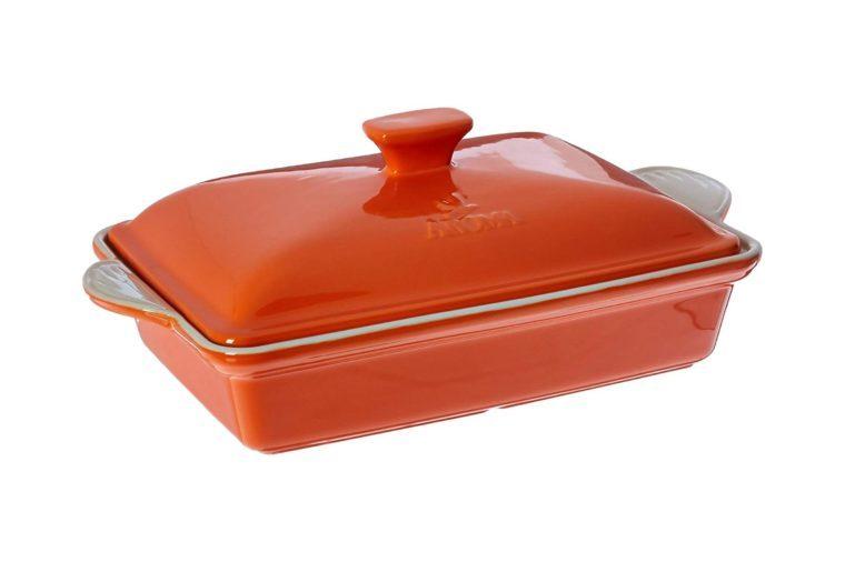 Aroma Housewares ADC-203OR Doveware Casserole, 3.0 quart, Tangerine Orange