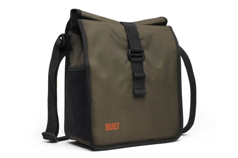 Built NY LBM02-OLV Crosstown Stain Resistant Insulated Lunch Bag with Adjustable Shoulder Strap, Olive