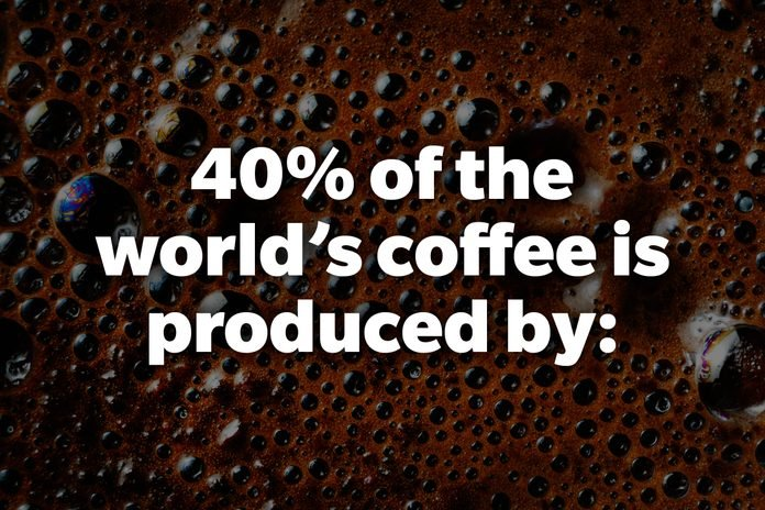 40% of the world's coffee is produced by: