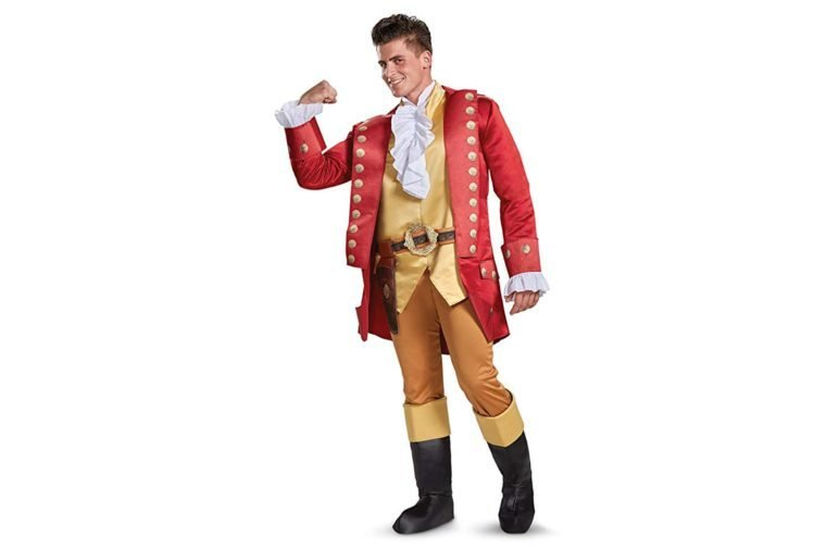 Disney Men's Plus Size Gaston Deluxe Adult Costume