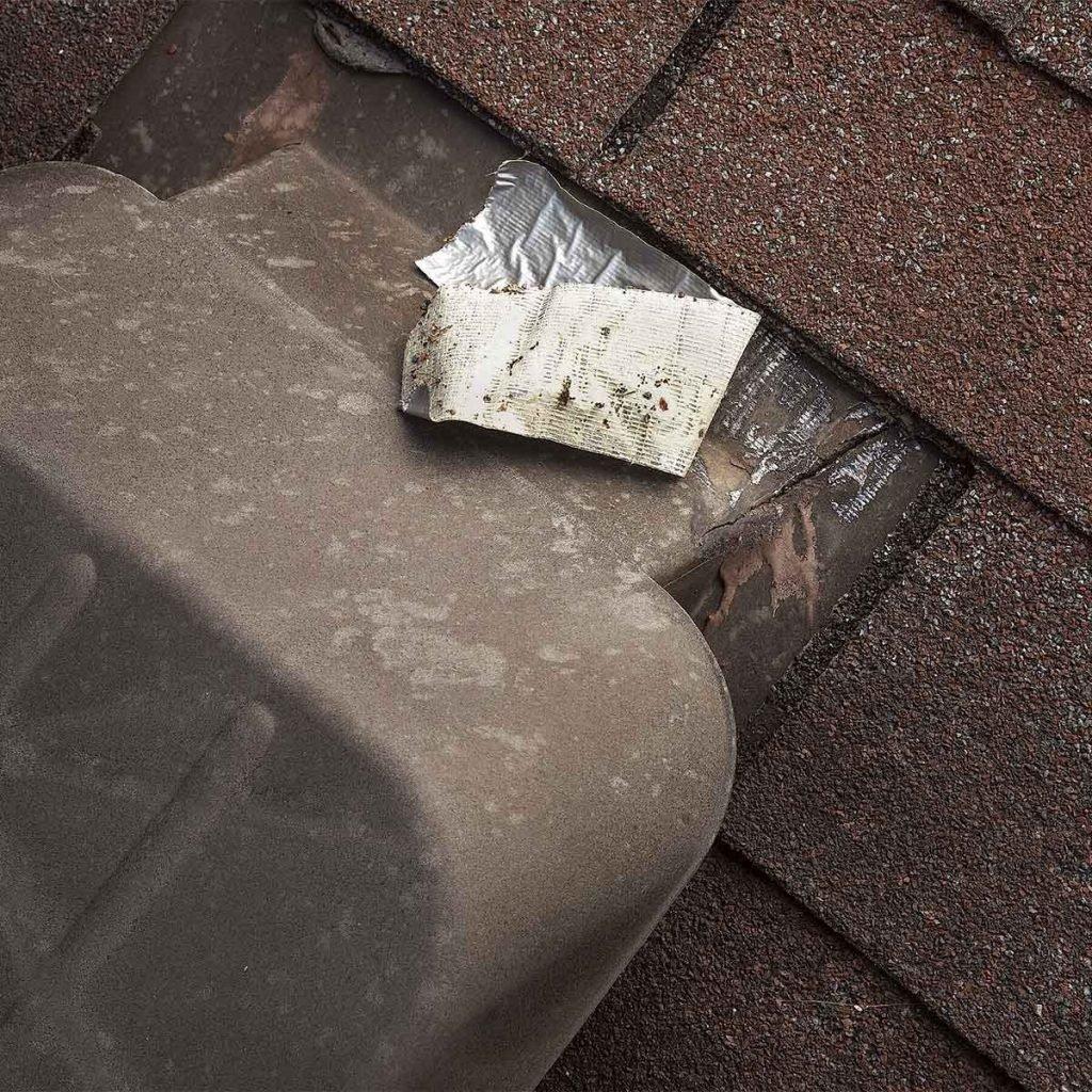 damaged roof vent