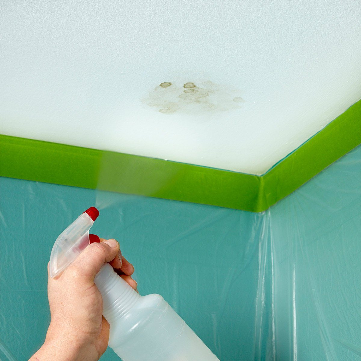ceiling water stains