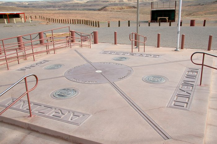 Four Corners Monument - Border of Colorado, Utah, Arizona, New Mexico